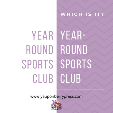 Image text:Year round sports club vs. year-round sports club. Which is correct?
